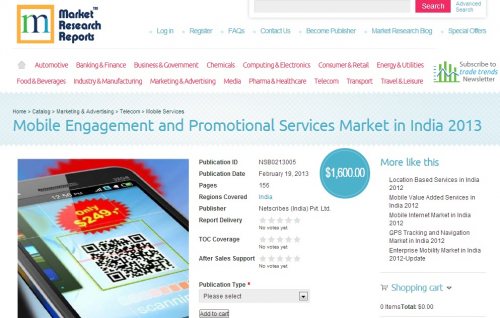Mobile Engagement and Promotional Services Market in India 2'