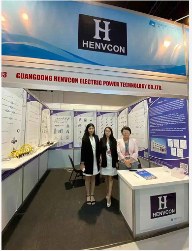 Henvcon showcases optical cable fittings at IIEE 3EXPO'