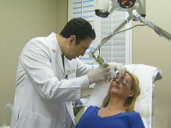 Dr. Ourian performs laser skin resurfacing treatment'