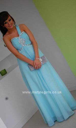 one shouler prom dress'