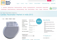 Pacemaker Market in India 2013