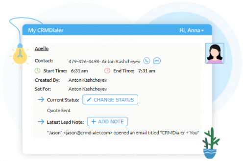 CRMDialer.com Tasks and Appointments'
