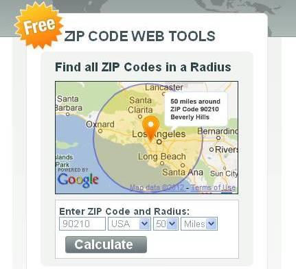 ZIP Codes within a Radius'