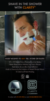 Clarity Wall-Mount Fog-Free Shower Mirror'