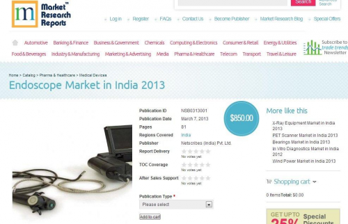 Endoscope Market in India 2013'