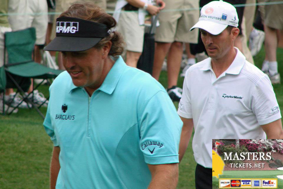 Up Close with Phil Mickelson and Mike Weir at the Masters