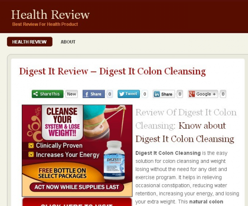 Digest It Colon Cleansing Review'