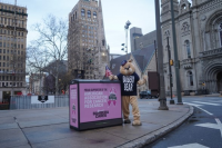 High-Five the Barbera Bear at the Philadelphia Auto Show and