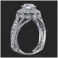 Antique Engagement Ring setting by BloomingBeautyRing.com