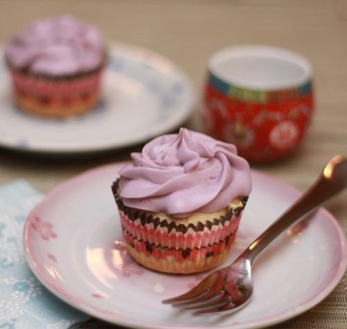 Taro Cupcakes'