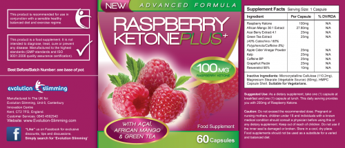 Raspberry Ketone Plus Ingredients'