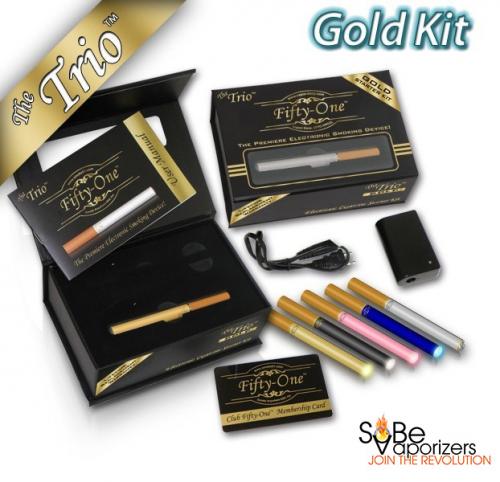 South Beach Vaporizers Smoke 51 Gold E-Cigarette Starter Kit'
