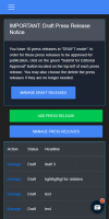 ReleaseWire 2020.1 - Account Manager Dark Mode / Mobile'