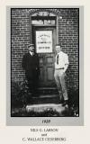 Nils Larson and C.W. Cederberg Outside Larson in 1920'