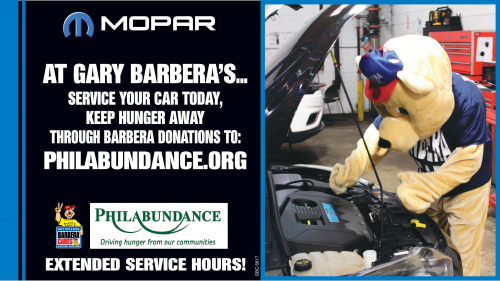 Benefiting Philabundance - Barbera Is Offering to Service Yo'