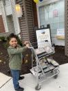 The first grader delivered 31 hot meals.'