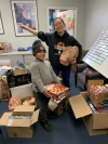 With the help of donations, Cavanaugh purchased food.'
