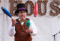 Boswick The Clown Offers to Entertain Kids Online