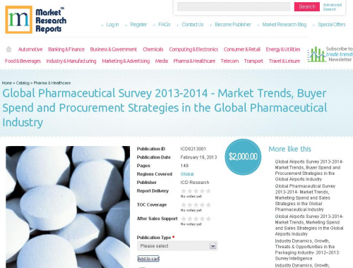 Global Pharmaceutical Survey 2013-2014'