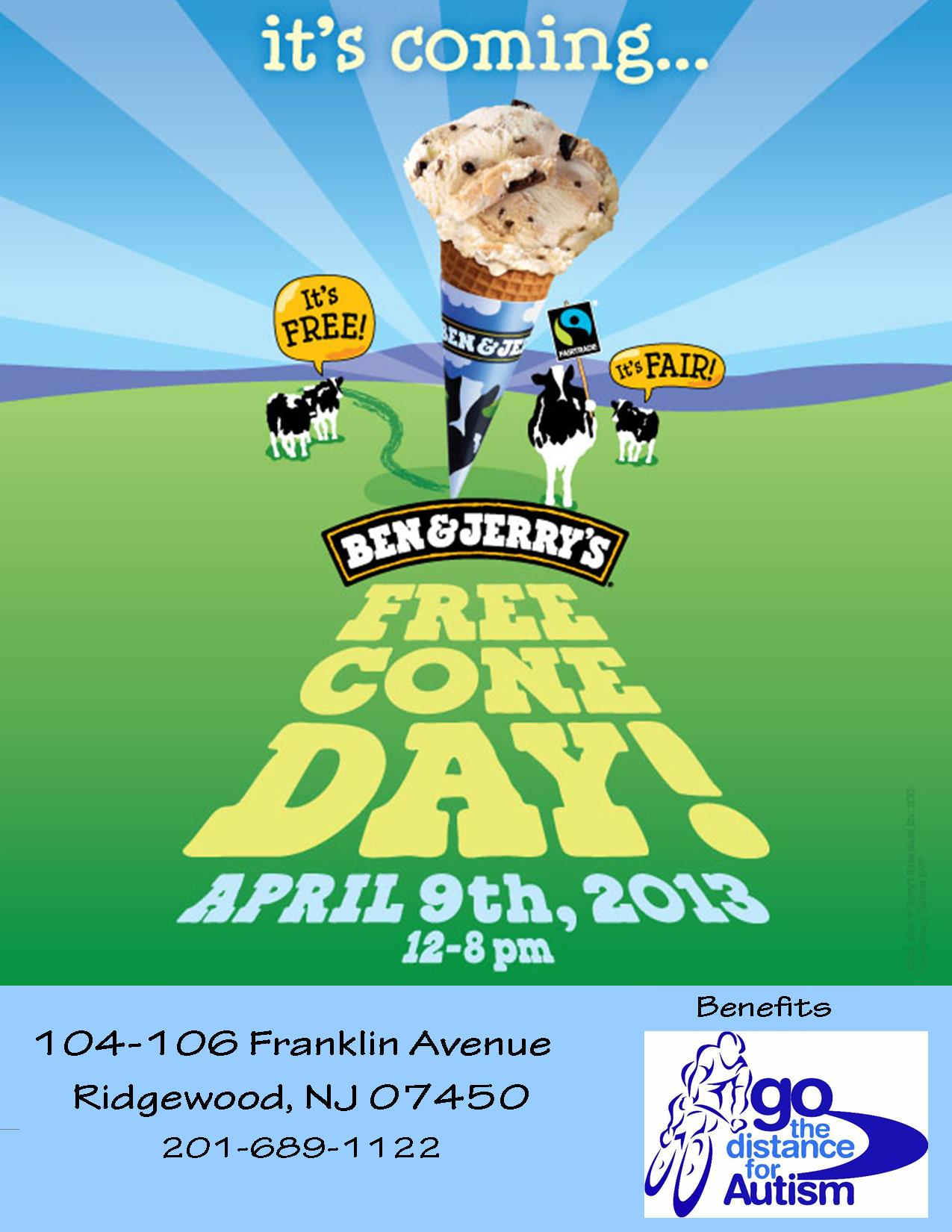 Free Cone Day & Go the Distance for Autism