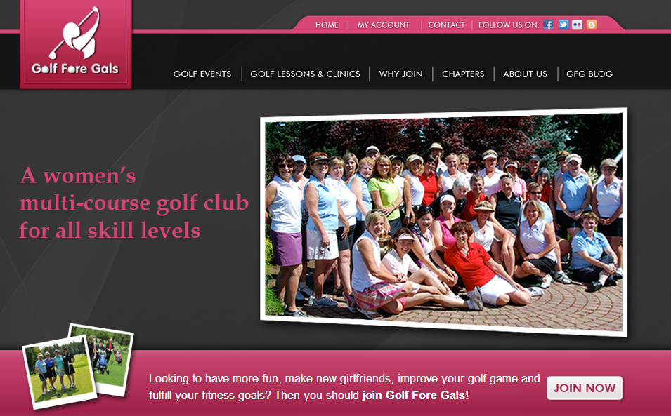 Golf Fore Gals - a multi-course women's golf club
