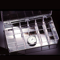 Clear Plastic Compartment Boxes by Alpha Rho Inc.'