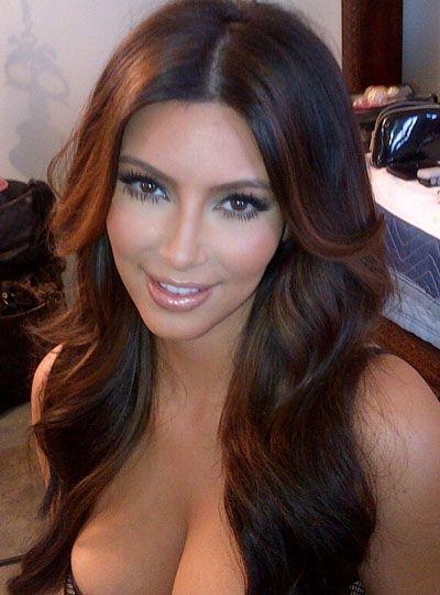 Stock Kim Kardashian Full Lace Human hair Wig'
