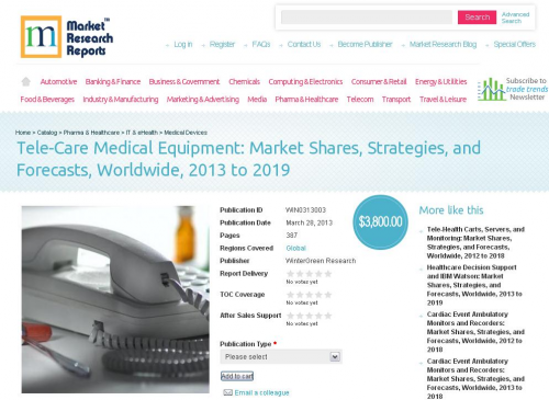 Tele-Care Medical Equipment: Market Shares, Strategies, and'