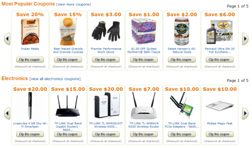 Some Amazon promotional coupon codes'