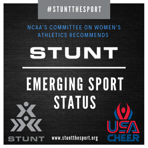 STUNT Receives Emerging Sport Recommendation from the NCAA&a'