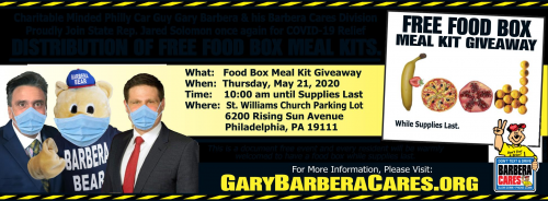NBC 10 and CBS3 Report Charitable Minded Philly Car Guy Gary'