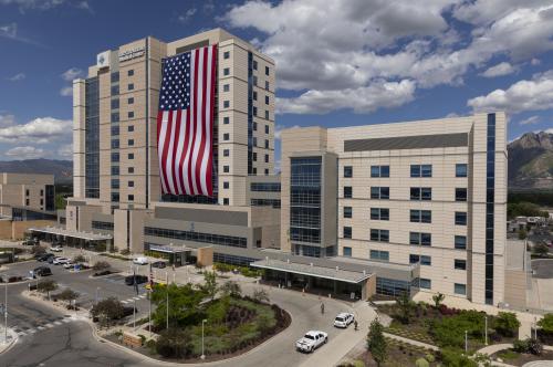 American Flag on Intermountain Medical Center 1'