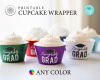 Editable Cupcake Wrapper by Jessica at Greengate Images'
