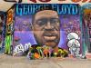 George Floyd Mural Flowers'