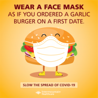 Wear A Mask As If Eating A Garlic Burger on First Date