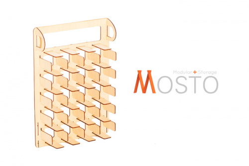 Mosto.-.Modular Storage For Your Shower and Closet'