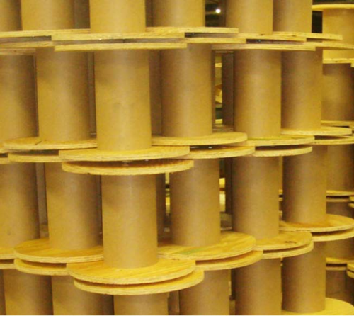 Plywood cable reels'