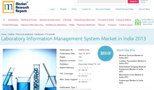 Laboratory Information Management System Market in India'