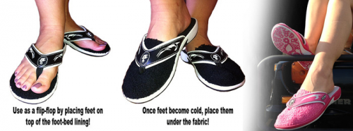 SLIP FLOP Keeps Your Feet Warm!'