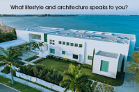 Modern homes of Sarasota, Florida.
