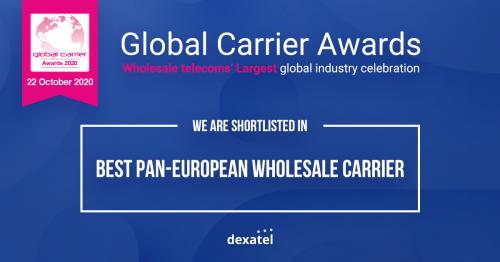 Dexatel shortlisted for Global Carrier Awards 2020'