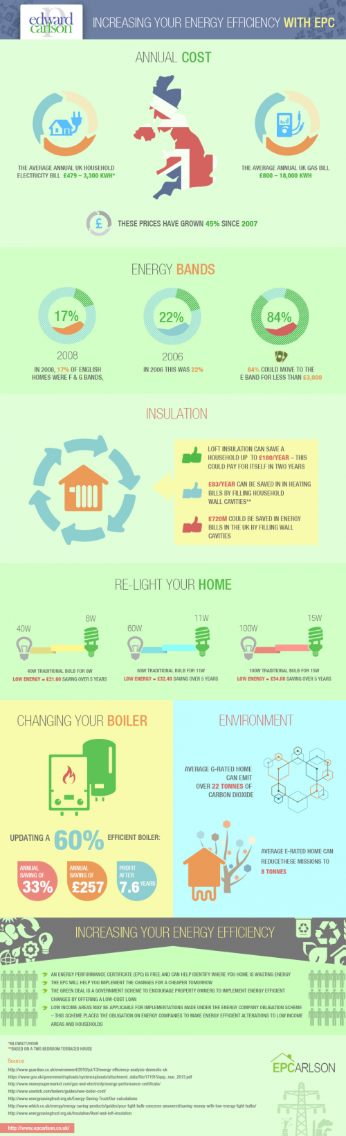 Infographics - How to save money with Energy Efficient Insta'