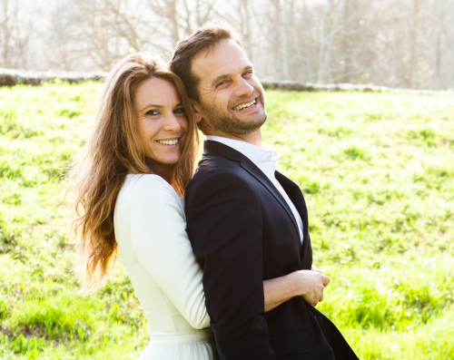 Recently married JWed couple Ryan and Michal'