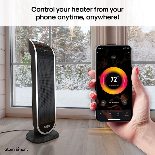 Smart WiFi Tower Heater From Atomi Smart'