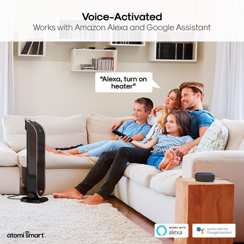Smart WiFi Tower Heater is voice activated.'