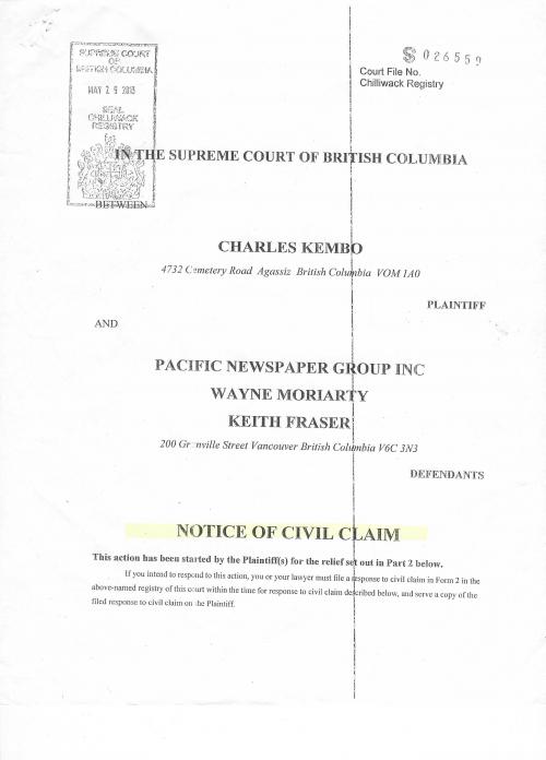 Kembo Launches $5.7 Million Defamation Lawsuit'