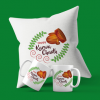 Happy Karwa chauth Mugs and Cushion Set'