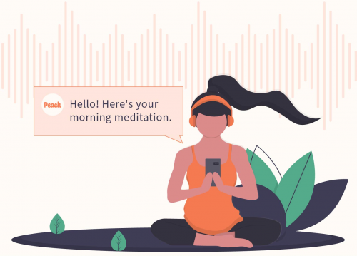 Peach Mindfulness  Monthly Subscription'