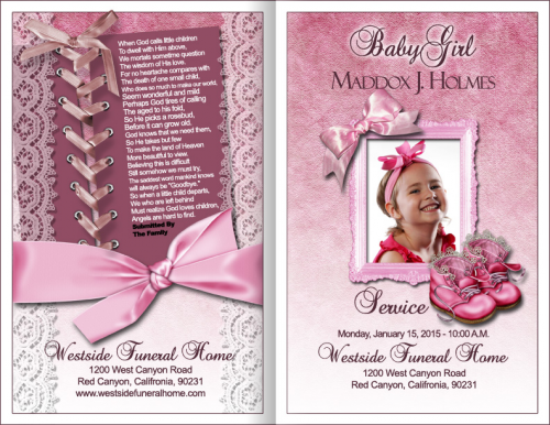 baby girl funeral program'