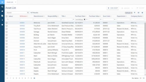 Asset Tracking Software'